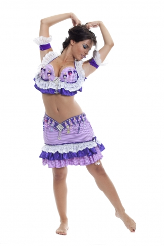 Couture belly dance costume - Viola Odorata