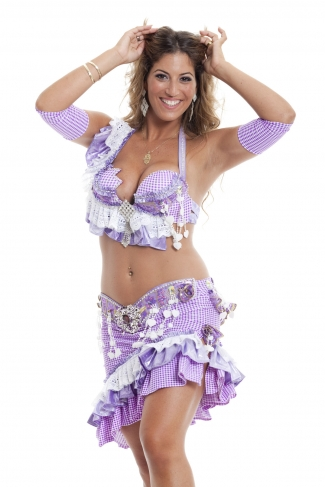 Couture belly dance costume - Mischeif Mademoiselle