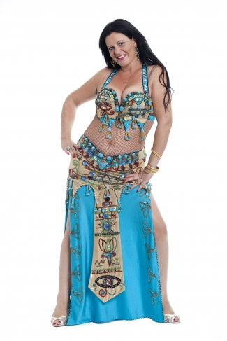 Couture belly dance costume - Heart of Egypt