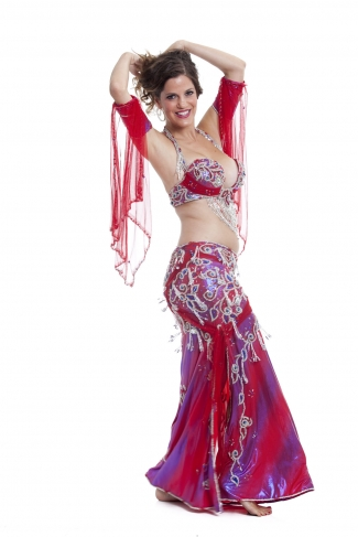 Couture belly dance costume - Barry juice
