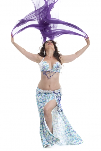 Couture belly dance costume - Pretty Petals