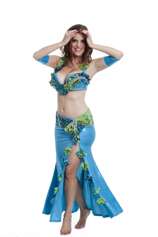 Couture belly dance costume - Ocean Diva