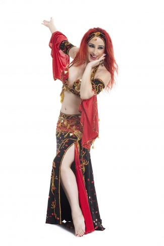 Couture belly dance costume - Pirate Treasure