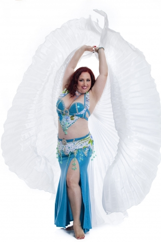 Couture belly dance costume - Sky Lights
