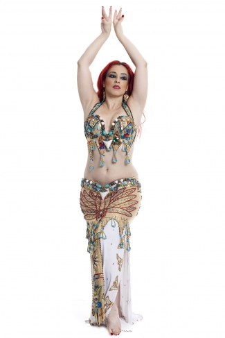 Couture belly dance costume - Pharoah's Gold