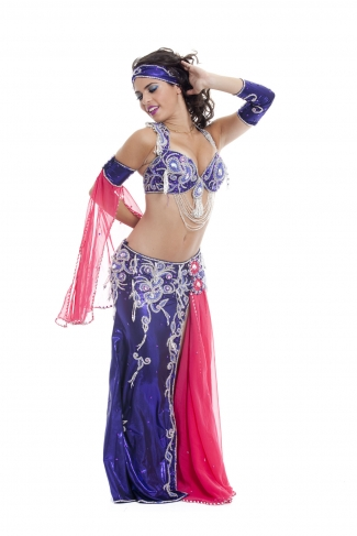 Couture belly dance costume - Bird of Paradise