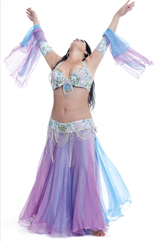 Couture belly dance costume - Colours of the Wind