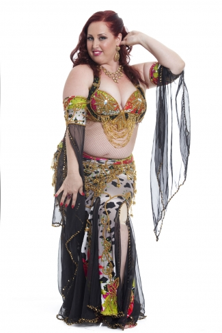 Couture belly dance costume - Smokin' Jungle Dancer