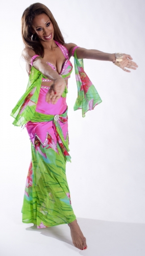 Belly dance couture costume - Jungle Fantastic
