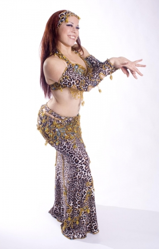 Couture belly dance costume - Wild Cat