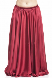 Dark red silk belly dance skirt