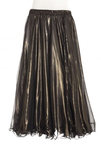 Deluxe chiffon circular skirt - dark gold + gold sheen
