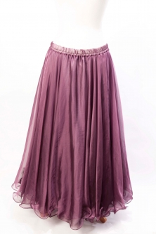 Deluxe chiffon circular skirt - plum purple