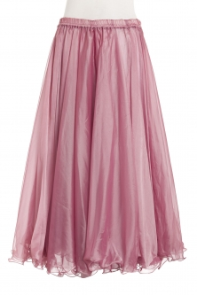Deluxe chiffon circular skirt - antique rose