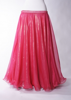 Deluxe chiffon circular skirt - bright red + sheen