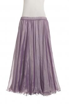 Deluxe chiffon circular skirt - lilac + sheen