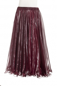 Deluxe chiffon circular skirt - maroon + sheen