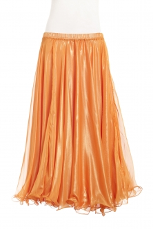 Deluxe chiffon circular skirt - orange + sheen