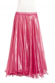 Deluxe chiffon circular skirt - pink + sheen