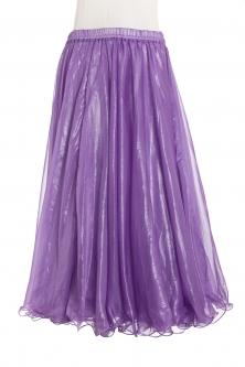 Deluxe chiffon circular skirt - purple + sheen