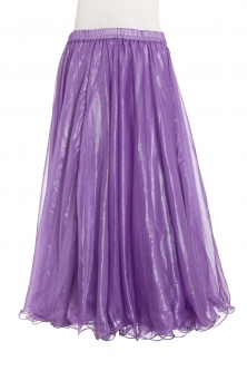Deluxe chiffon circular skirt - purple + sheen