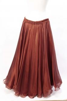 Deluxe chiffon circular skirt - rust
