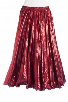 Deluxe metallic belly dance skirt - red