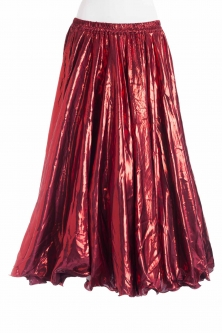Deluxe metallic belly dance skirt - red