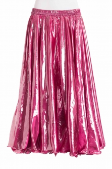 Deluxe metallic belly dance skirt - pink