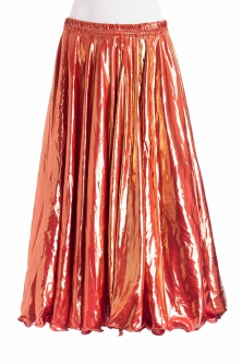 Deluxe metallic belly dance skirt - orange