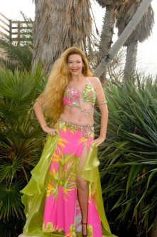 Eman for Brighton Orient Belly dance couture costume - Joy