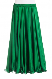 Emerald green silk belly dance skirt