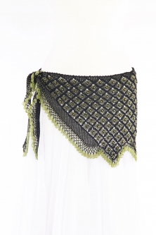 Fully crocheted beaded belly dance belt
