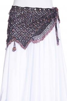 Fully crocheted beaded belly dance belt