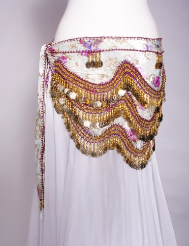 Funky lycra belly dance belt - Velvet Flower
