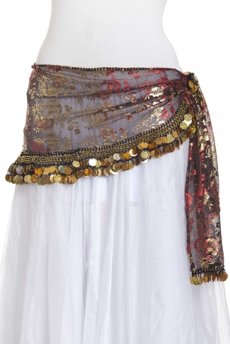 Funky iridescent belly dance belt