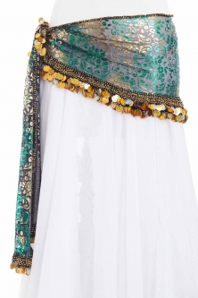 Funky iridescent mesh belly dance belt