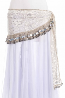 Funky lace belly dance belt