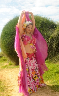 Hallah for Brighton Orient Belly dance couture costume - Papillo