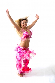 Hallah for Brighton Orient Belly dance couture costume - Rosé