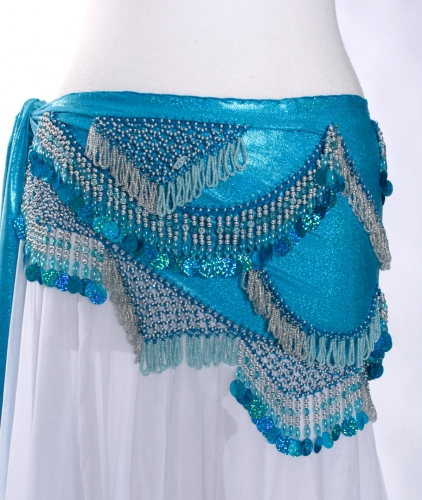 Funky lycra belly dance belt - Spangle Shimmies