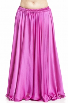 Hot pink silk belly dance skirt