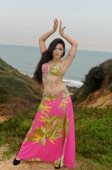 Eman for Brighton Orient Belly dance couture costume - Paradise