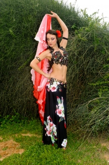 Eman for Brighton Orient Belly dance couture costume - Passion