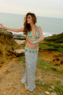 Eman for Brighton Orient Belly dance couture costume - Royalty