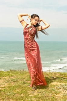Eman for Brighton Orient Belly dance couture costume - Romance