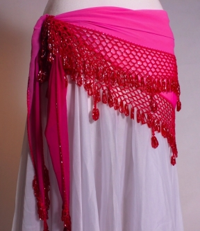 Large crocheted edge belly dance belt