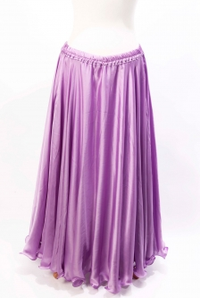 Lilac silk belly dance skirt
