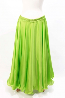 Lime green silk belly dance skirt