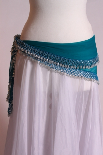 Medium crocheted edge belly dance belt